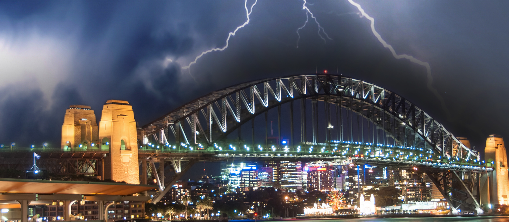 Storm photo over Sydney Harbour Bridge