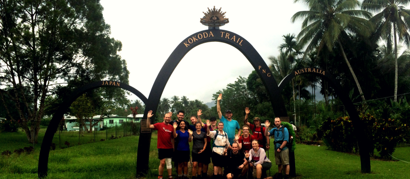 IAG employees on the Kokoda Track