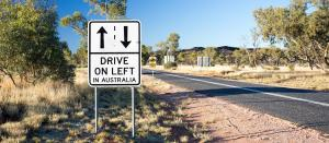 Road sign in Australian rural area